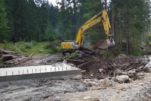 Oprava cesty a premostenia po povodni 2017 Repiská - Vyšné Šulkovo