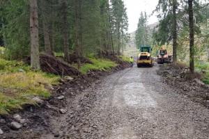 Oprava cesty po povodni 2017 Šulkovo